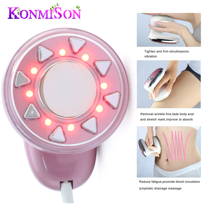 KONMISON Ultrasonic Body Slimming Massage Machine Cavitation Fat Removal Photon Radio Frequency RF therapy for Body Weight Lose