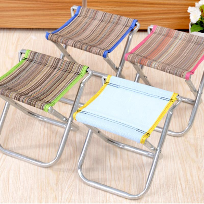 Folding Outdoor Camping Hiking Fishing Picnic Garden BBQ Stool Tripod Chair Seat Cloth Chair ...