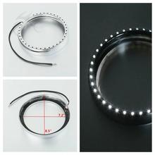 7 in Headlight Trim Ring + Light For Harley Touring Street Electra Tri Glide Road King Black/Chrome Motorcycle
