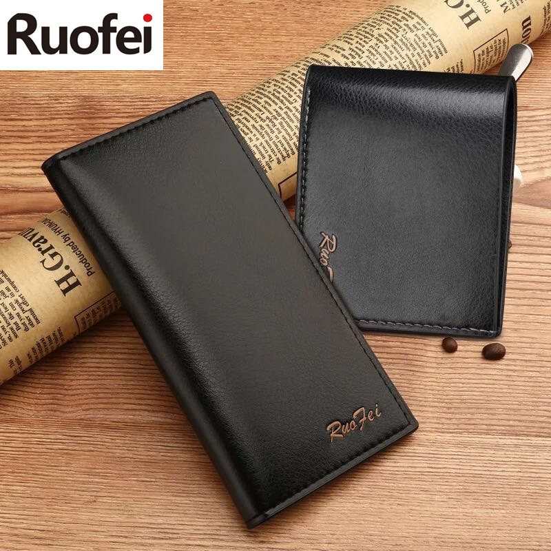 män läder män plånböcker företag varumärke kortinnehavare - Plånböcker