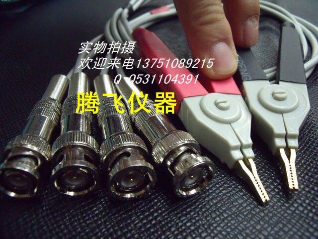 1 Conjunto BNC LCR Meter Condutores de Teste/LCR teste Clip/Terminal Kelvin Linha de Teste Probe