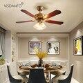 Visdanfo Потолочная люстра с вентилятором Невидимый потолочный вентилятор свет столовая спальня столовая тихий простой современный контроль ...