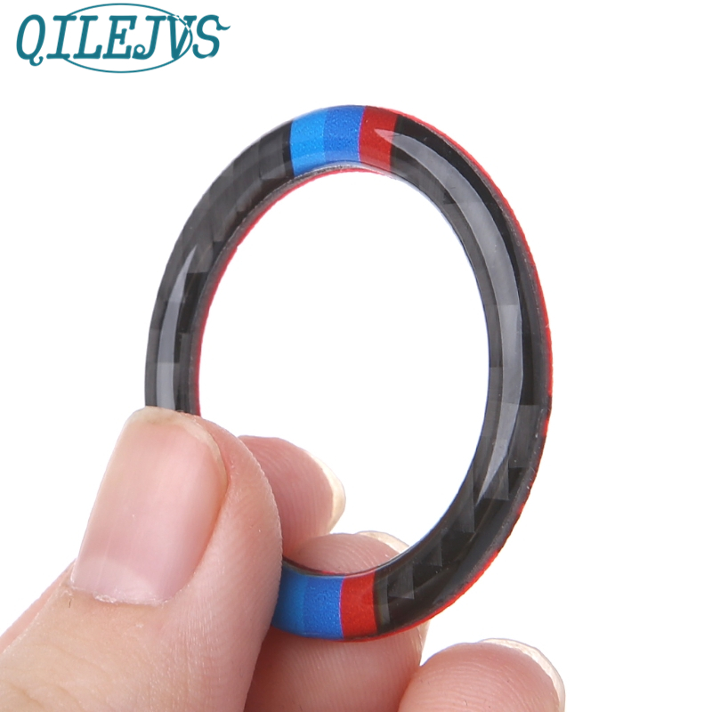<font><b>Carbon</b></font> <font><b>Fiber</b></font> Key Start Button Ring Decor Trim For <font><b>BMW</b></font> 3 Series <font><b>E90</b></font> / E92 / E93 image