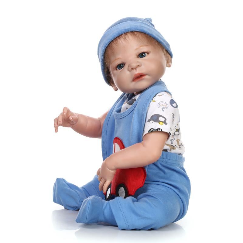 ⊹57CM full body silicone № reborn reborn dolls