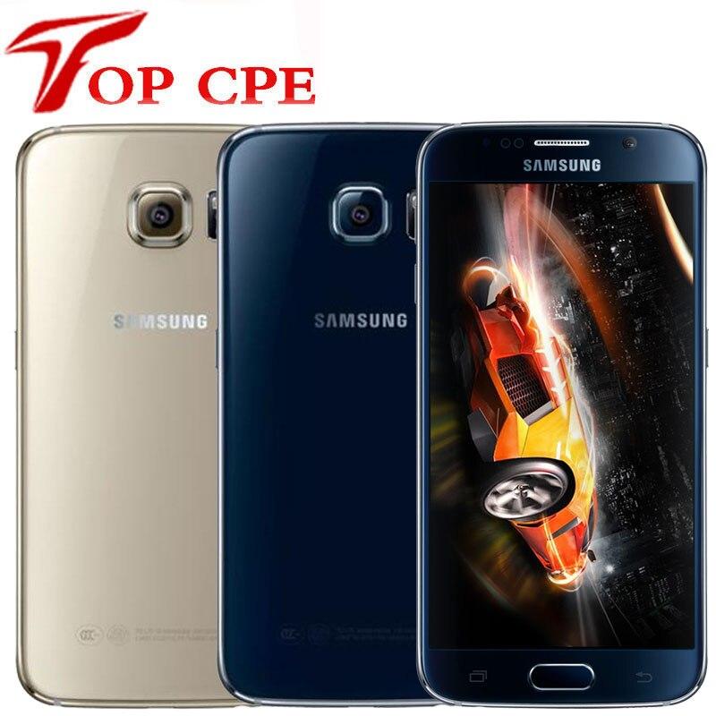 Samsung galaxy celular original s6 g920f s6 edge g925f, versão europeia, octa core, 3gb de ram, 32gb de rom lte android 5.0 desbloqueado, 16mp
