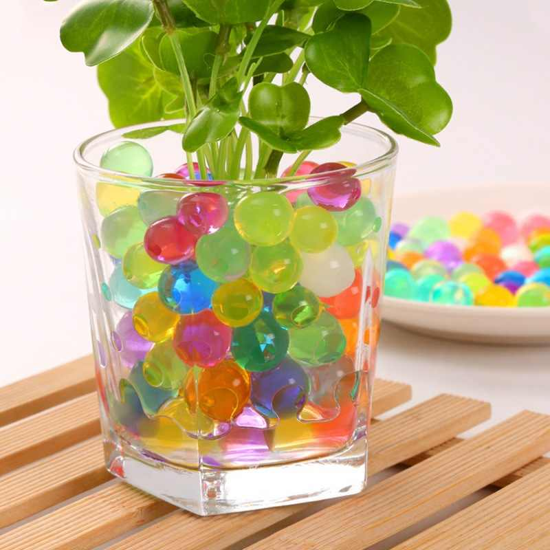 100 pcs/bag Crystal Mud Hydrogel Crystal Soil Outdoor Water Beads Vase Soil Grow Magic Balls Kid's Toy Home Decoration