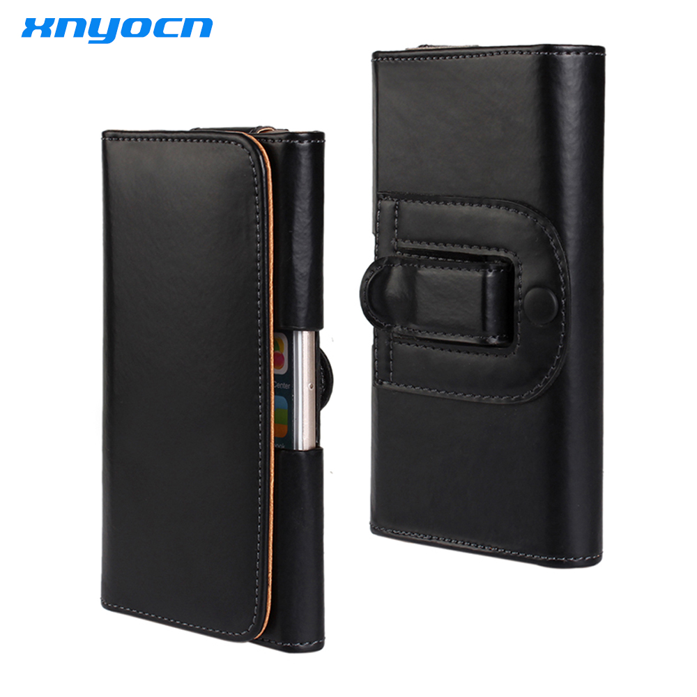 Black Leather Belt Clip Pouch Cover <font><b>Case</b></font> for IPhone 6 Plus 5.5