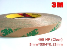 3M 5mm*55M 468MP 200MP Adhesive, Double Sided Sticky Bond Tape for Laptop Rubber Gasket Pad Adhesive, PCB Bonding