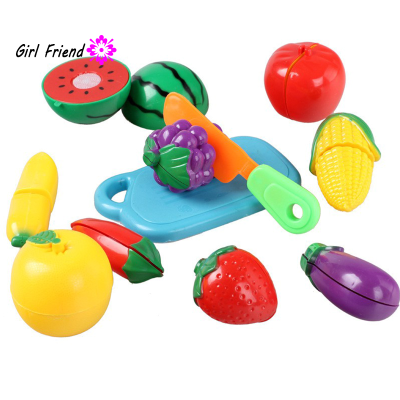 Baby Intelligence Toys Pretend Role Play Kitchen Fruit Vegetable Food Toy Cutting Set Child Gift 1 Set Lovely Kids Toys