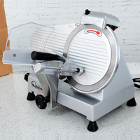 Wilton 10 Inches Semi Automatic Meat Slicer Commercial Home Electric Mutton Rolls Meat Grinder Machine With