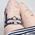 Jlx. body harness arnês gótico sexy ligas perna lingerie bondage harness cinto suspensórios meias sock ligas p0085