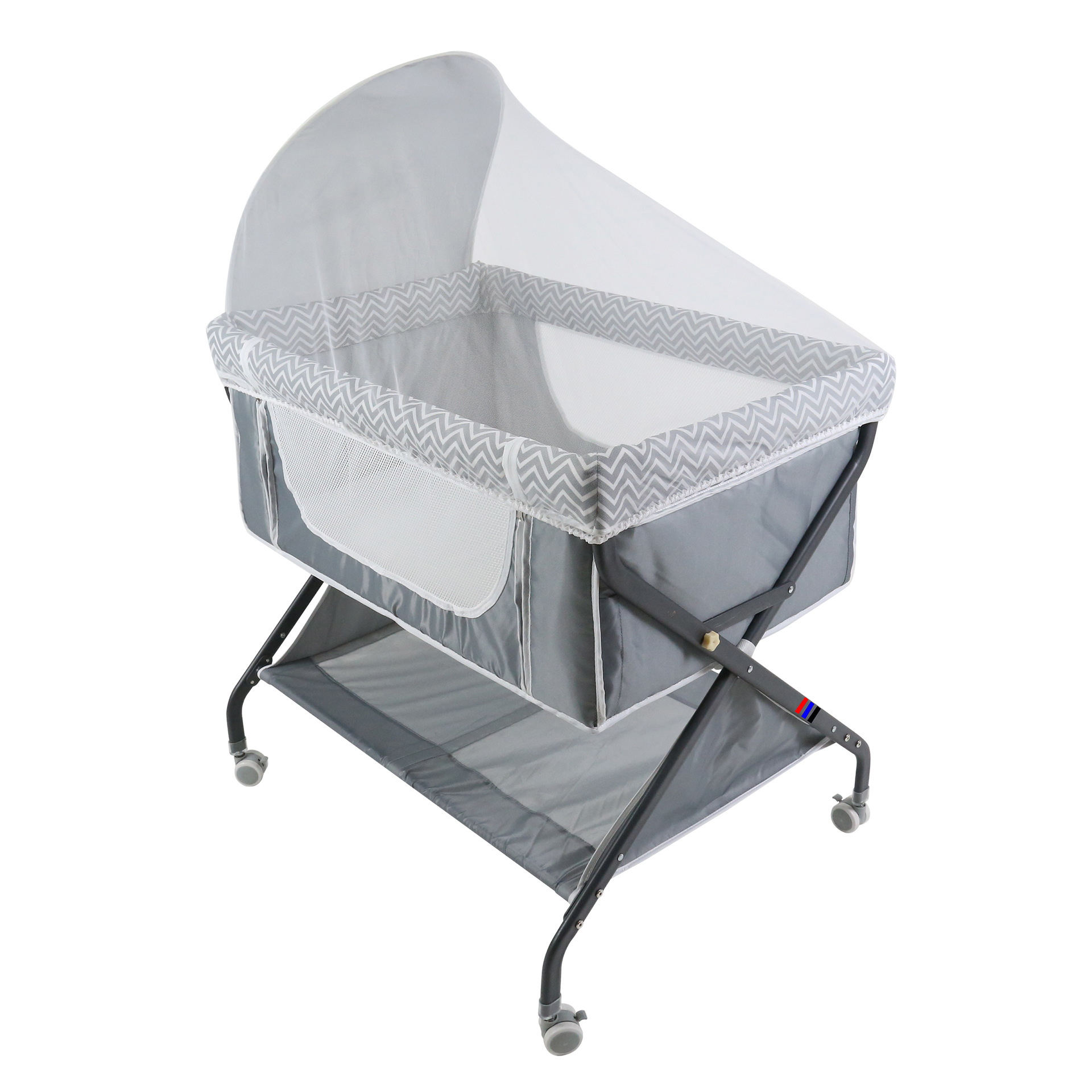 X-type Portable Multifunctional Foldable Bed Bed With Mosquito Net And Roller Splicing Bedside Bed For Newborn Travel