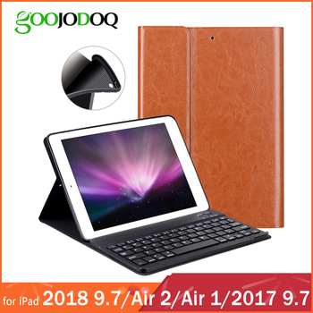 PU Leather Keyboard Case For iPad 9.7 2018 2017 / iPad Air 2 1 Silicone Soft Cover Multiple Folio Stand for iPad 2018 Case 9.7