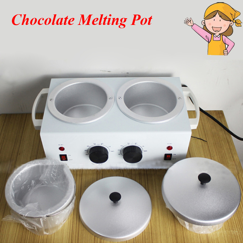 Chocolate Melting Pot Double Water-Resisting Heated Chocolate Heating Machine Soaps Chocolate Melted Furnace 2016 chocolate melting machine chocolate melting pot 2 pots