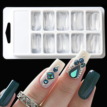 100pcs False Nail Mold Dual Forms Builder Tips Clear Fan Quick Building Clip Finger Extension UV Gel Tips Glue Nail Tools BE658