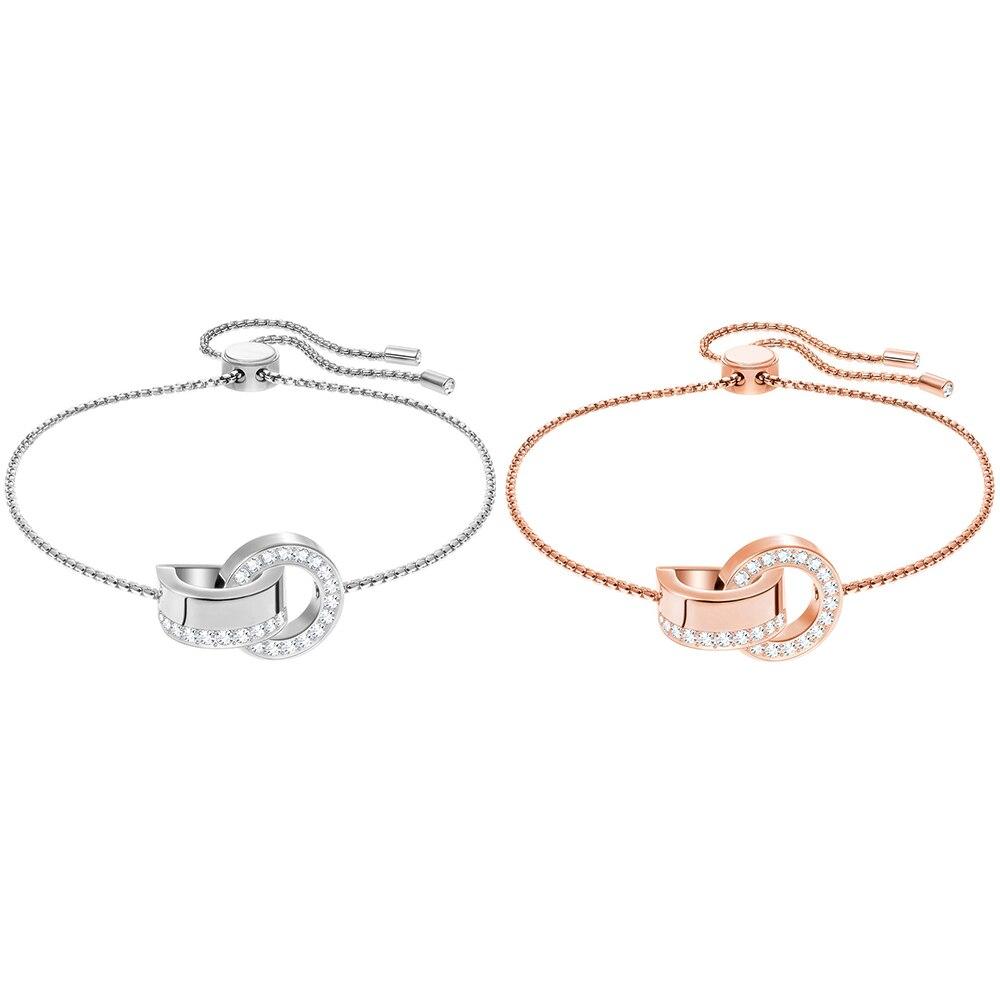 SWA RO 19 ans nouveau creux Double anneau boucle Bracelet perles de transfert femmes Bracelet peut ajuster la taille des cadeaux de bijouxSWA RO 19 ans nouveau creux Double anneau boucle Bracelet perles de transfert femmes Bracelet peut ajuster la taille des cadeaux de bijoux