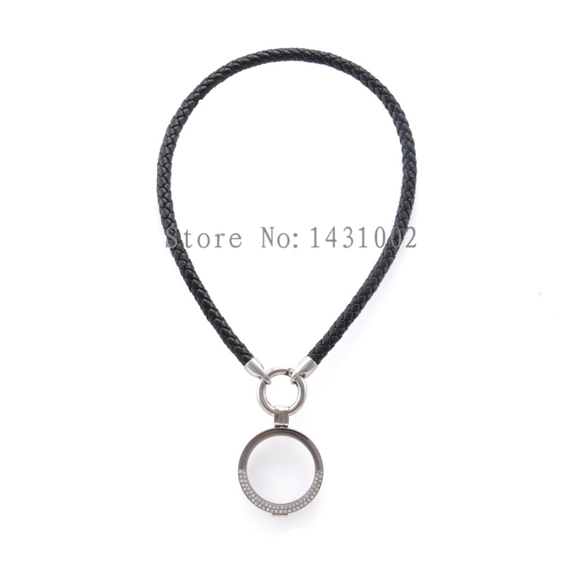 product necklace black leather designs statement cascading sylca