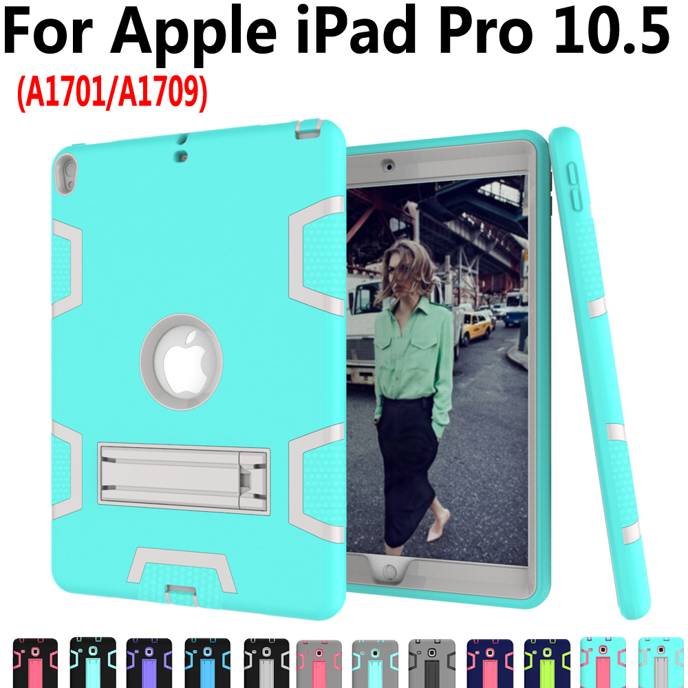 Tablet Cover Case for Apple iPad Pro 10.5 A1701 Colorful Geometric Silicone Shockproof Kickstand Kid Safe Case for iPad Pro 10.5