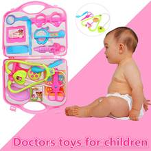 14Pcs Children Pretend Doctor Game House Medical Toy Child Handbag Simulation Drama Props Children Toys(China)
