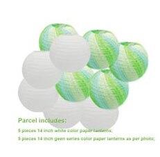 "20 pcs 6""-12"" White Paper Lanterns Chinese Japanese Paper Lanterns for Wedding Party Halloween Hanging Diy Decor Favor 10"