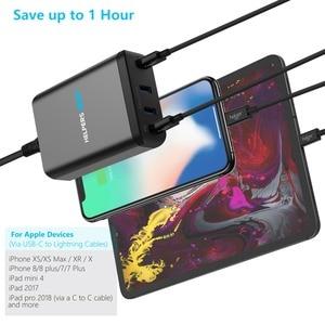Image 4 - Chargeur de voyage double type c PD, avec 2 ports USB USB C PD et 2 ports USB 5V, 2,4 a, Compatible avec la plupart des USB C ordinateurs portables et téléphones, comme DELL XPS