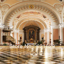 Gorgeous architecture 8'x8′ CP Computer-painted Scenic Photography Background Photo Studio Backdrop HY-CM-2002