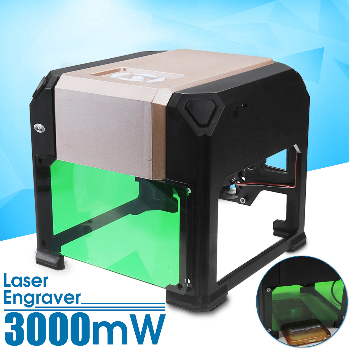 все цены на 3000mW USB CNC Laser Engraver Printer Cutter Carver DIY Logo Mark Laser Cut Carving Machine Laser 80x80mm Engraving Range онлайн