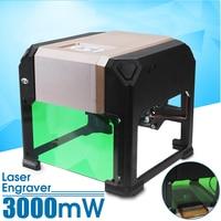 3000mW USB CNC Laser Engraver Printer Cutter Carver DIY Logo Mark Laser Cut Carving Machine Laser 80x80mm Engraving Range