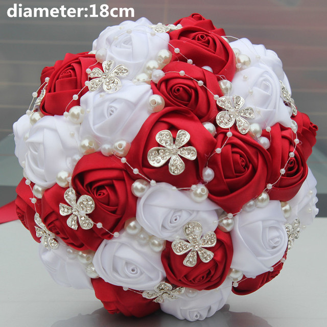 New Arrival Best Selling Silver Brooch Flower Artificial Flowers ...