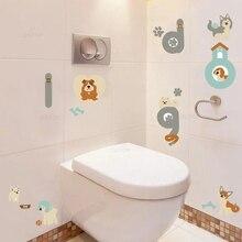 Cartoon Doggy Friends Diy Wall Art Sticker For Kids Rooms Bathroom Decoration Lovely Animals Dogs DIY Decals Murals Decor