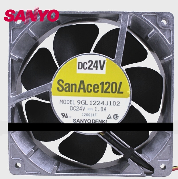 12038 1.0A 24V 12CM aluminum frame large air volume inverter fan 9GL1224J102 cooling fan delta 12038 fhb1248dhe 12cm 120mm dc 48v 1 54a inverter fan violence strong wind cooling fan