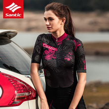 Santic 2019 Cycling Jersey Women Short Sleeve JMTB Road Bike Shirt Pro Ladies Maillot Ciclismo Summer Womens Clothing
