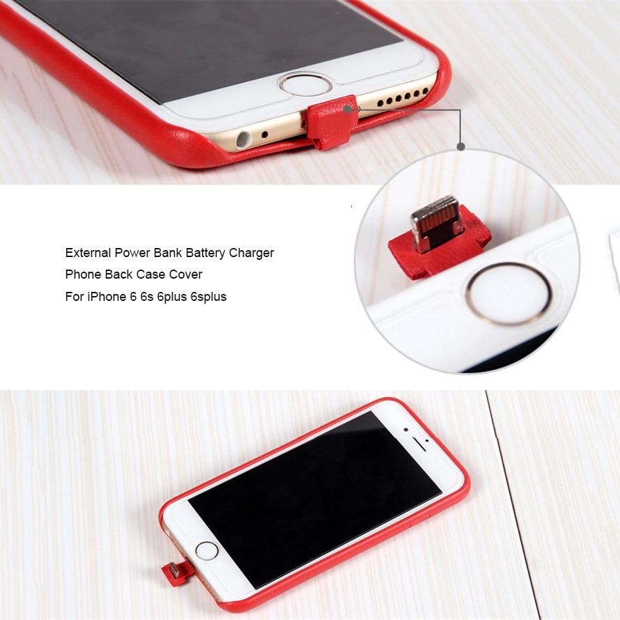 bilder für 2 in 1 Externe Telefon Zurück Fall Abdeckung + QI Wireless Charging Adapter Rezeptor Rückseitige Abdeckung Shell Für iPhone 6 6 s 6 plus 6 splus