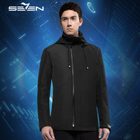 Seven7 Smart Travel куртка Cloudburst Для мужчин балахон 17 карманов Подушка маска для глаз Прихватки для мангала утка ветровка куртка 2 предмета 111K20350