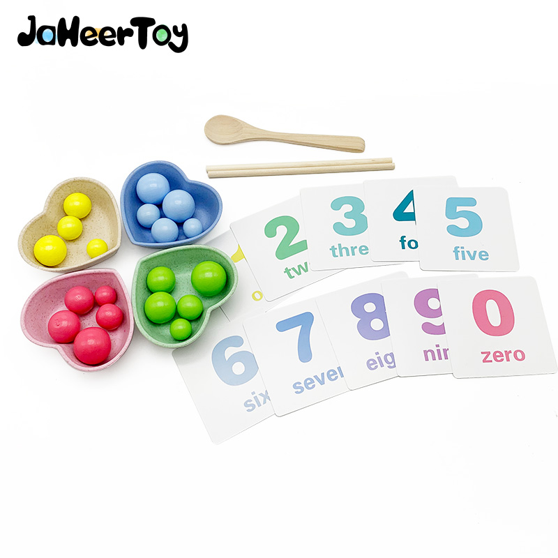 JaheerToy Math Toys For Children Figure  Hand Exercise Montessori Early Education Multifunctional Learning Baby Kids
