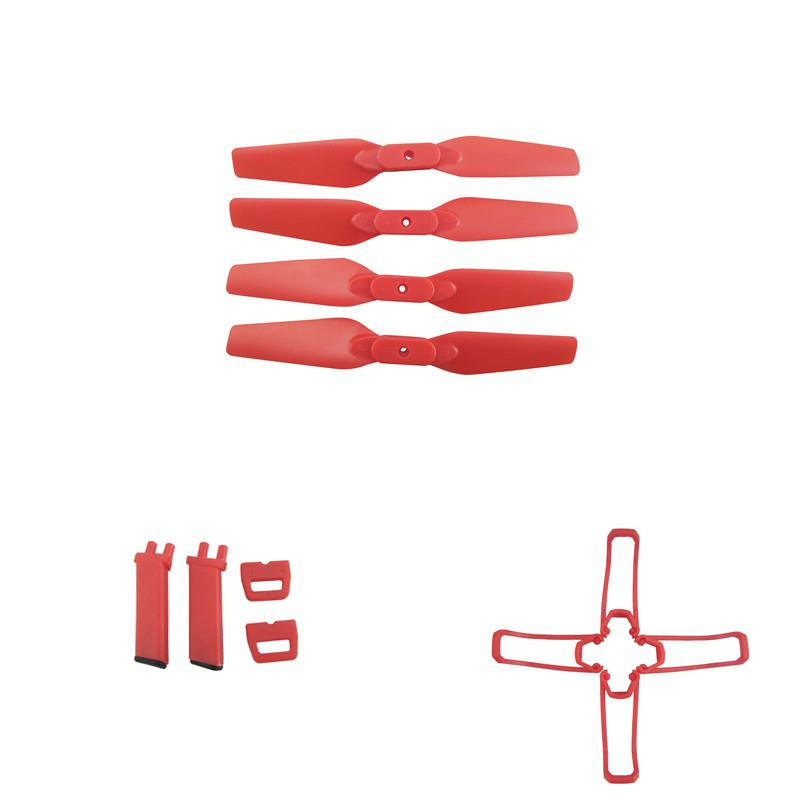 RCtown For Eachine E58 RC Quadcopter Spare Parts Propeller Blades Landing Gear Propeller Guard Protection Cover Set