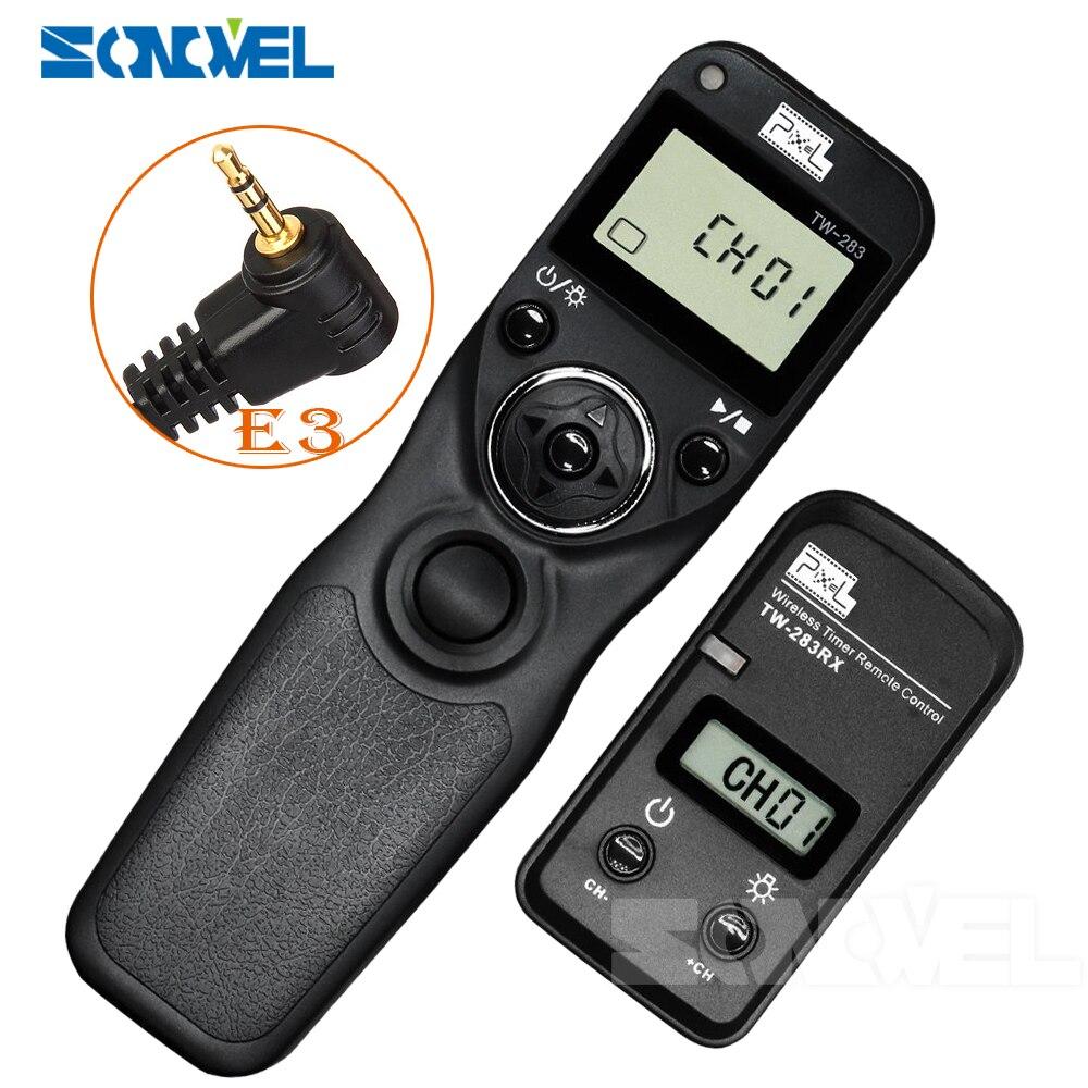 Pixel TW-283 E3 Minuterie Télécommande Sans Fil pour Pentax K-5 K-7 K10 K20 K100 K200 pour canon 350D 300D 100D 80D 70D 60D 60Da