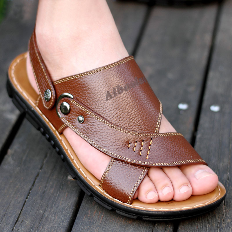 3f490926fbc7 2017 new summer beach shoes men sandals roma leisure breathable sandal male  casual synthetic leather shoes