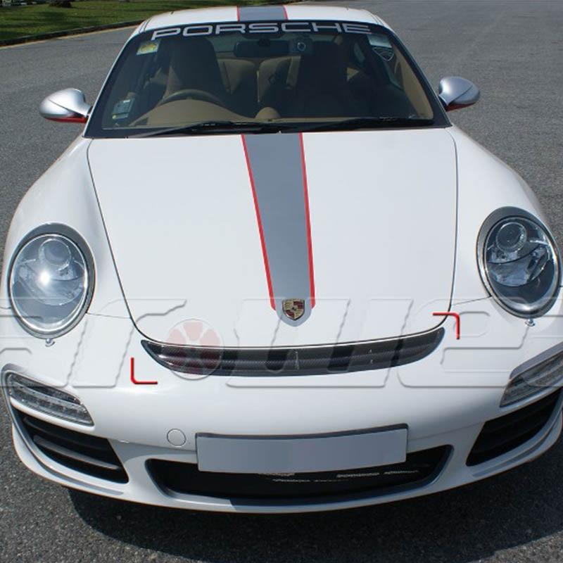 911 GT3 Avant En Fiber De Carbone Capot Center Gril Pour 911 GT3 997 GT-3 2005 2006 2007 2008 2009 2010