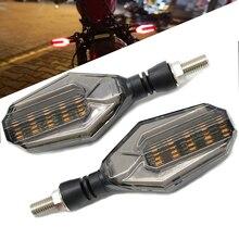ใหม่สัญญาณไฟเลี้ยวรถจักรยานยนต์กันน้ำ LED เปิดทิศทางโคมไฟ motocross สำหรับ Yamaha YZF R1 XJR1300 FZ1 FAZER FZR 600R