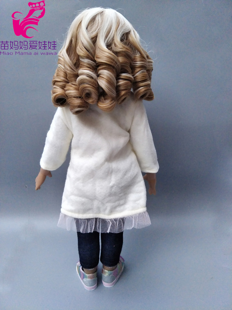 25-28CM Head Size Dolls Blonde Short Wave Roma Hair For 18 Inch Girl Doll DIY  Hair Replace Doll Accessory-005