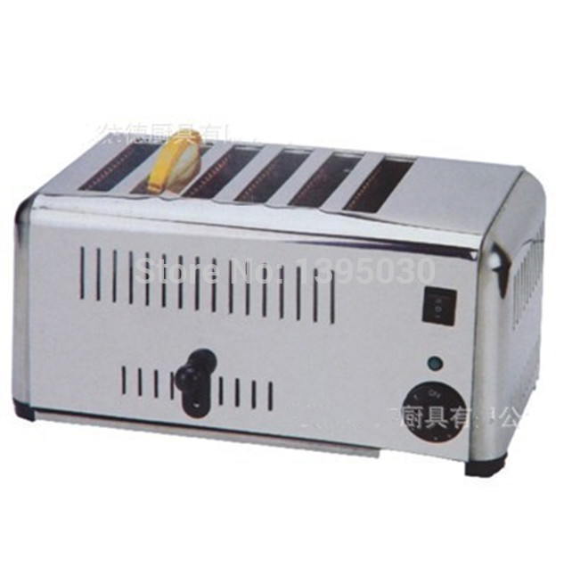 1PC EST-6 Household Automatic Stainless Steel of 6 Slice Toaster Bread Machine Home Appliance