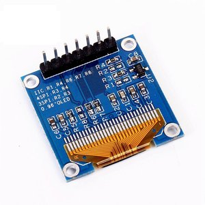 Low Cost 0.96 Inch 7-Pin Blue-White-Yellow-Blue Oled Display Panel Oled Module Compatible With Spi/Iic Oled Display