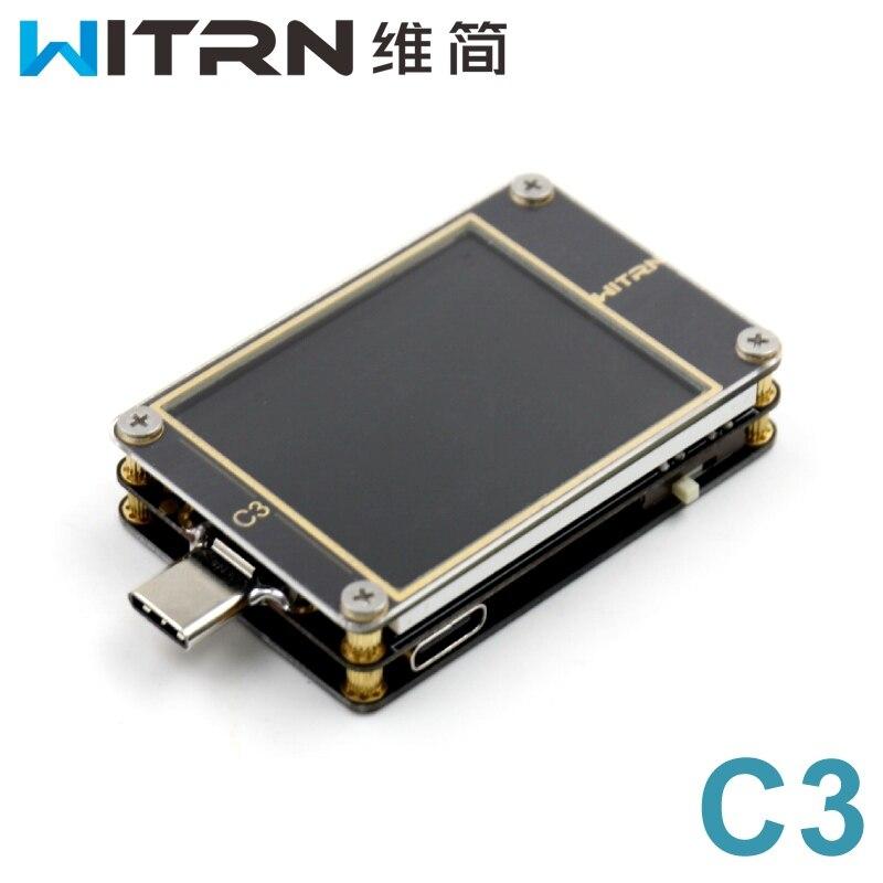 WiTRN-C3 Actuel Voltmètre USB Testeur QC4 + PD2 3.0 PPS Rapide De Charge Protocole D'essai CC Table