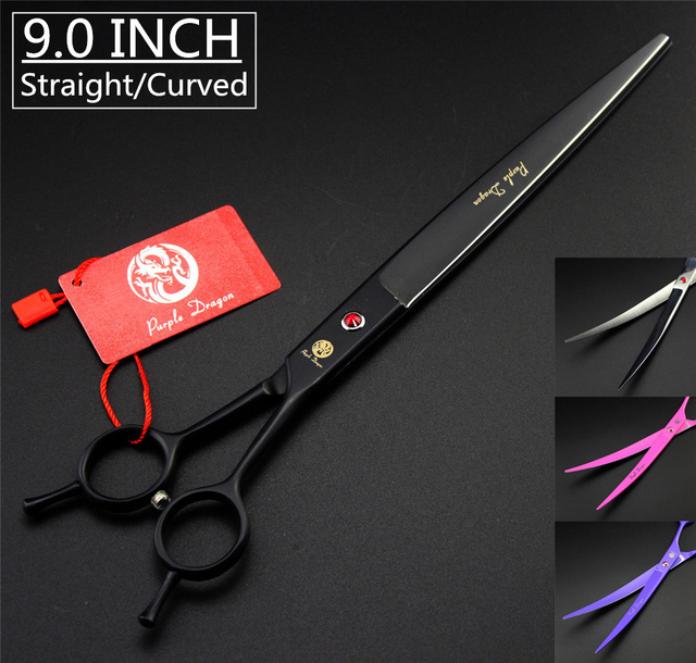 """9"""" Premium Sharp Edge Dog Grooming Scissors Fur Clippers High Quality Professional Pet Scissors Straight Curved Shears with Case"""