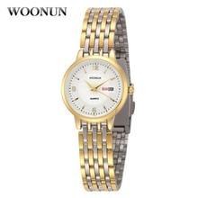 New Woonun Brand Women Watches Fashion Clock Full Steel Wrist Watches For Women Luxury Gold Watch Women Relogio Feminino Dourado