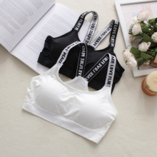 Women Crop Top Cropped Mujer Casual High Elastic Bodybuilding Padded Bra