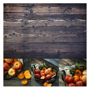 Image 3 - 56*88cm / 22*34.5in Double Sides Wood Marble Cement Wall Like Vintage Photography Background Backdrop Paper Board Prop For Food
