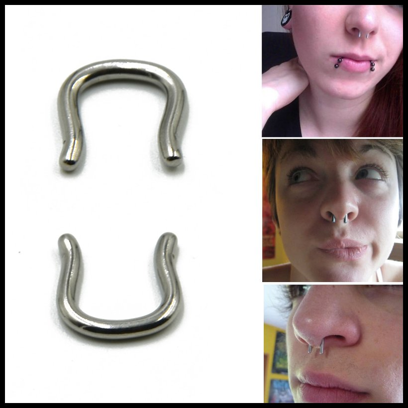 1PC 316l Surgical Steel Horseshoe U Shape Ear Hanger Nose Septum Rings Piercing Body Fashion Jewelry For Sexy Women