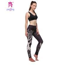 Yomsong New Arrival Leggings Women Push Hip Up  Fittness Leggings Casual leggings 3D Life Tree Print  Elastic Pants 388-04